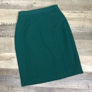 HALOGEN | Emerald Green Midi Pencil Skirt Office 6